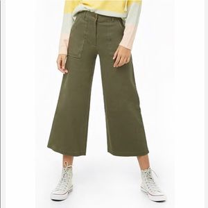 Forever 21 wide leg crop pants